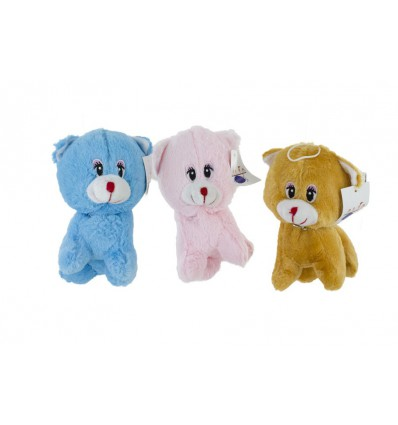 Assortiment peluches chats 17 cm