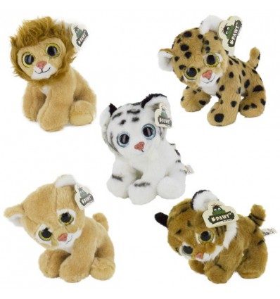 Peluches animaux sauvages 20 cm