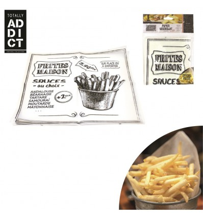 20x Papiers Absorbants FRITES