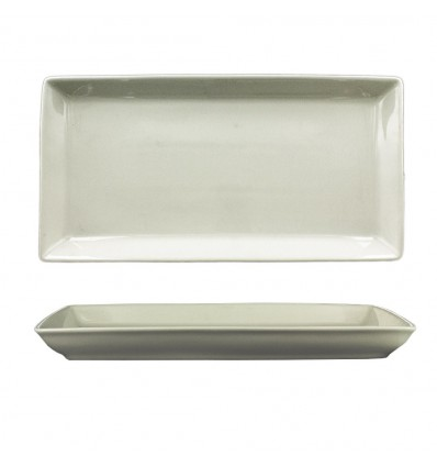 Assiette Rectangle Porcelaine Bord Haut 34 x 17 cm