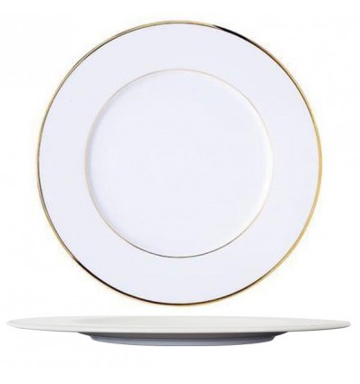 Assiette plate filet or 27 cm